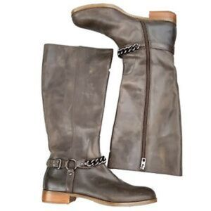 Coach Mabel Knee High Distressed Leather Boot
